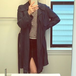 Zara denim trench coat!